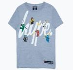 LEGO 5006224 HYPE X LEGO® NINJAGO® T-Shirt für Kinder, grau